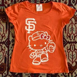 Hello Kitty SF Giants Tee Shirt Sz Small